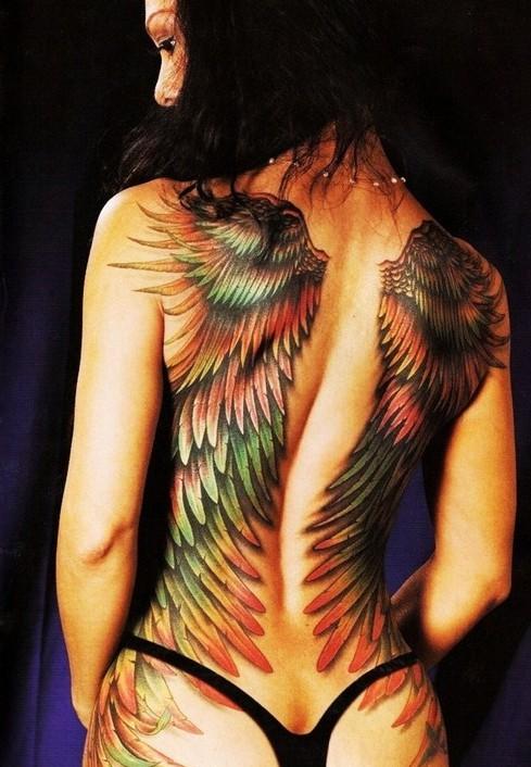 ailes d'ange en tatouage