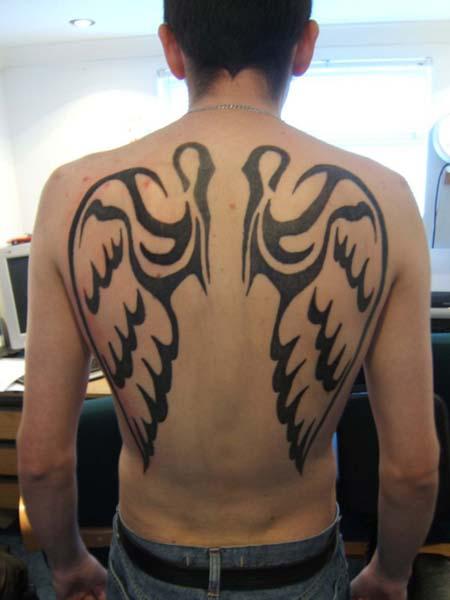 Tatouage ailes d 39 ange homme tatouage ailes d 39 ange sur - Tatouage aile d ange homme ...