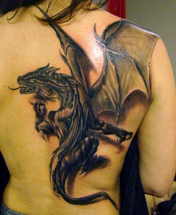 Tatouage Dragon Grimpant Tatouage Dragon Sur Modele2tatouage Com