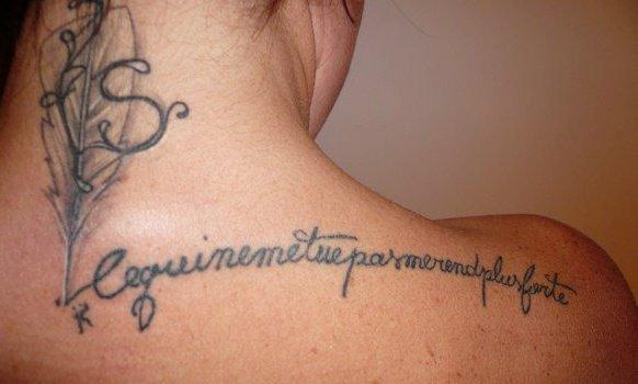phrase tatouée
