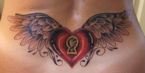 Tatouage Ailes D Ange Et Coeur Tatouage Ailes D Ange Sur