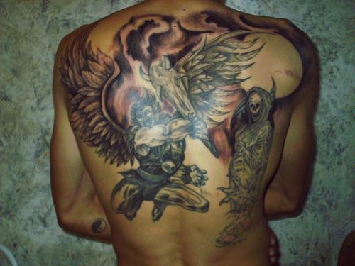 Tatouage Ange De La Mort Tatouage Ange Sur Modele2tatouage Com