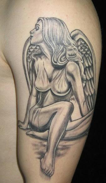 tatouage ange pour homme