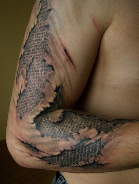 tatouage bras 3d