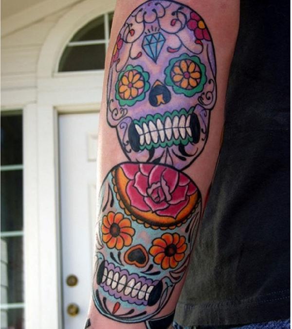 tatouage cranes mexicains