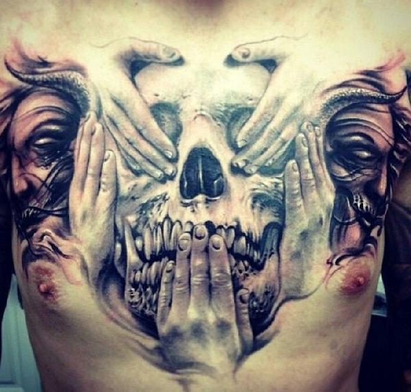 tatouage de tete de mort
