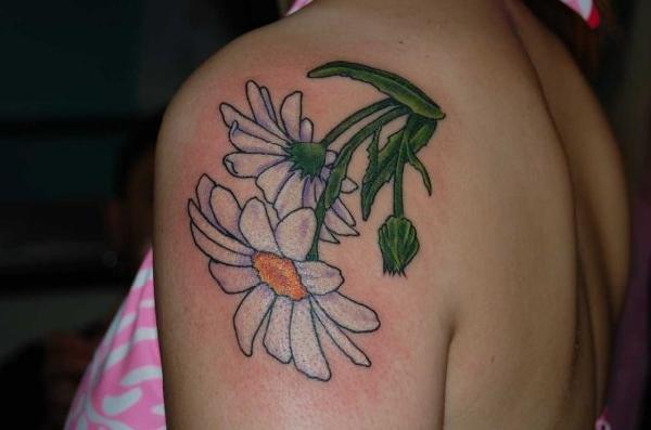 tatouage marguerite
