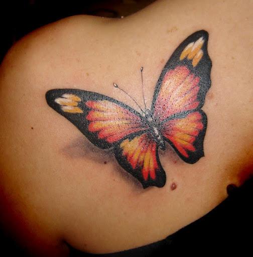 tatouage papillon tatouage papillon sur. Black Bedroom Furniture Sets. Home Design Ideas