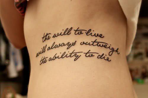 tatouage phrase vie