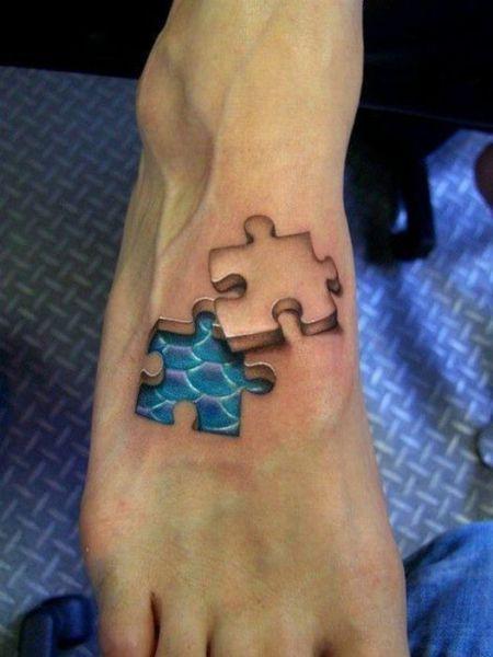 tatouage piece de puzzle