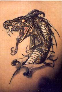 tatouage tete de dragon
